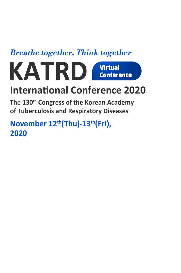 Healthy Breath, Happy Life / KATRD / International Conference 2020 /The 129th Congress of the Korean Academy of Tuberculosis and Respiratory Diseases / November 11th(Wed)-13th(Fri), 2020 / Lotte Hotel World, Seoul, Korea